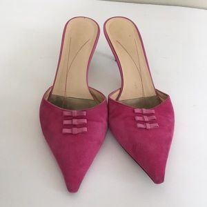 SALE 🔥Kate spade pink suede mules size 8.5